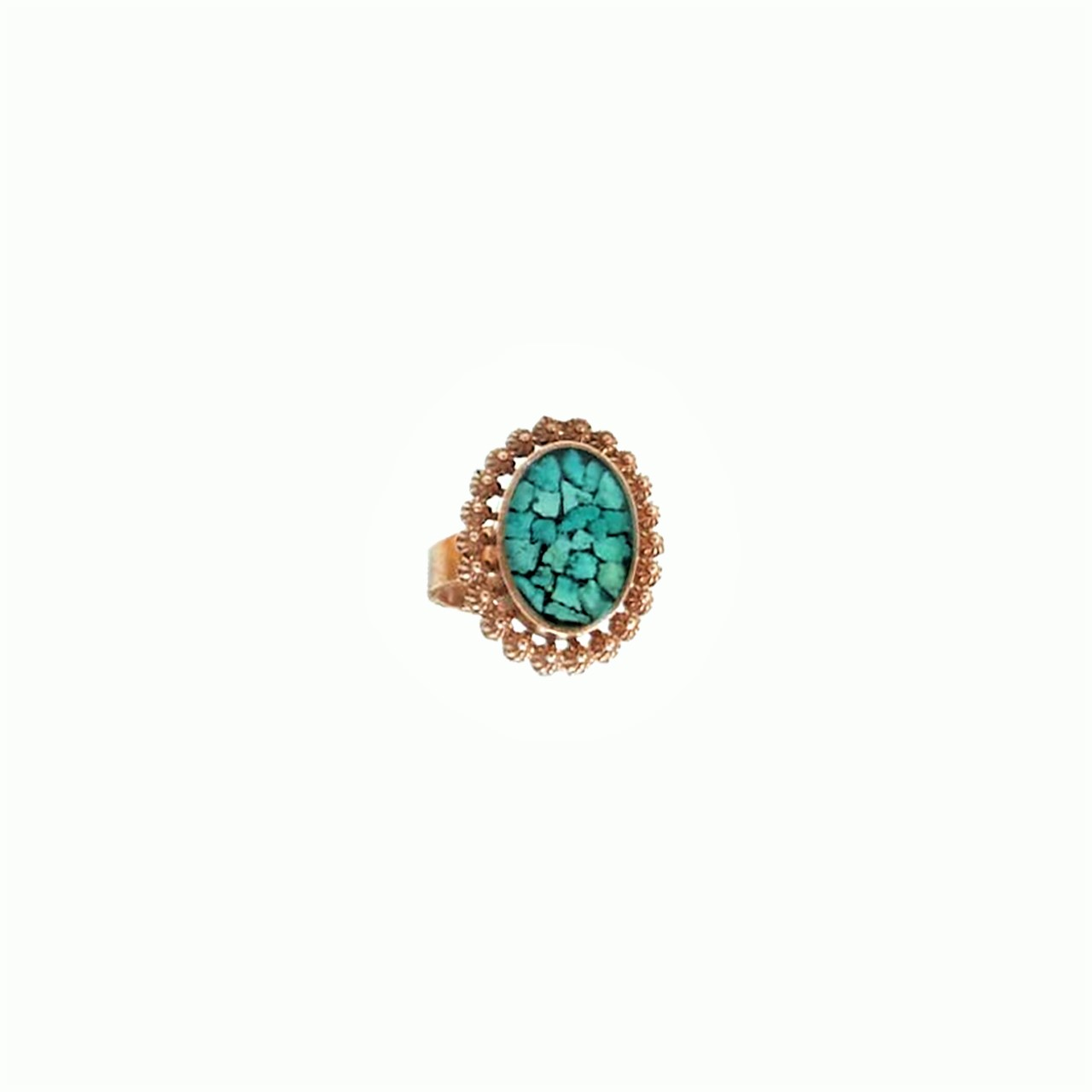 Turquoise-copper-oval-coarse-oval-ring